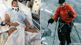 Former rugby player Ed Jackson broke his spine - and now he's climbing Mont Blanc