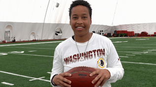 Jennifer King becomes NFL's first Black female full-time coach