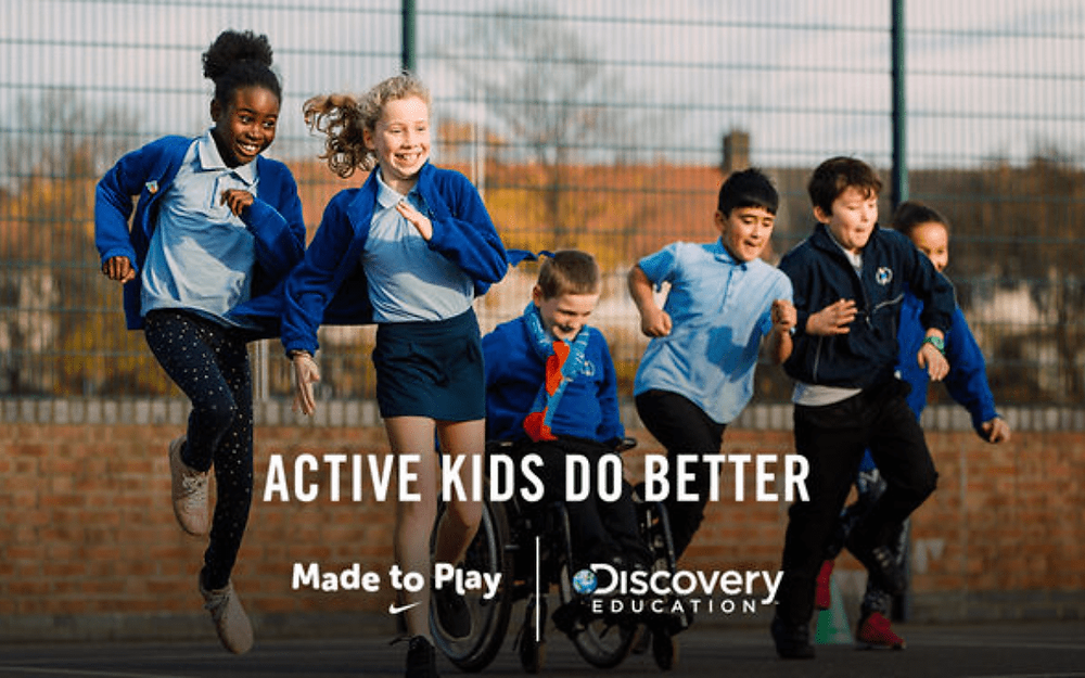 Nike and Discovery Education launch programme to keep kids moving during Easter holidays