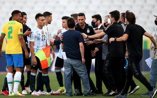 Brazil v Argentina: Fifa 'regrets' scenes leading to match suspension