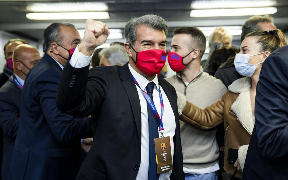 Joan Laporta wins Barcelona presidential election