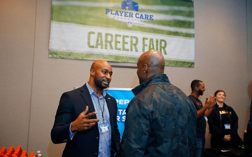 NFL player care foundation career fair