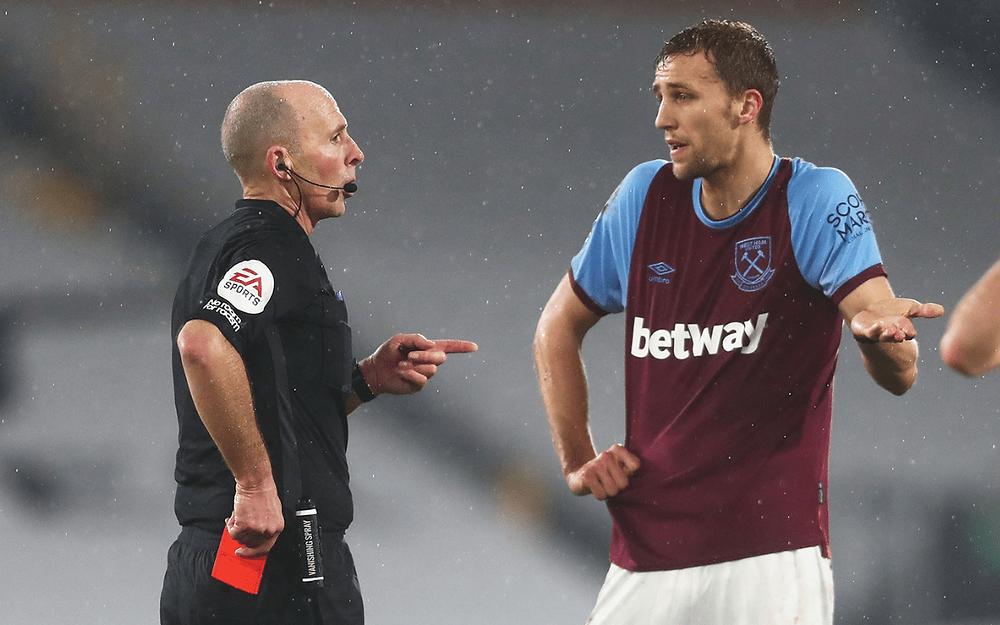 mike dean red card soucek refuse premier league weekend fixture abuse