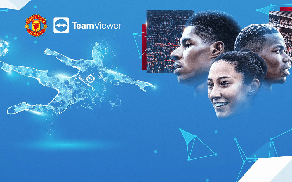 manchester united TeamViewer record deal shirt sponsor share price