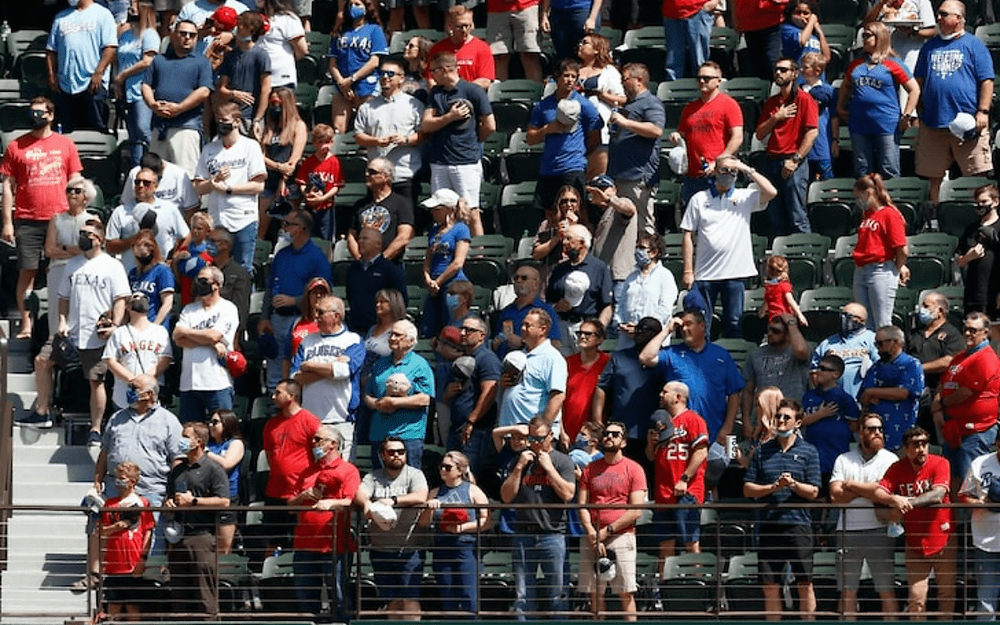Texas Rangers host first North American sports event without attendance restrictions since COVID-19