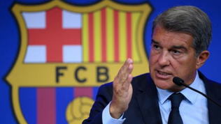 """President Joan Laporta describes club's financial situation as """"very worrying""""."""