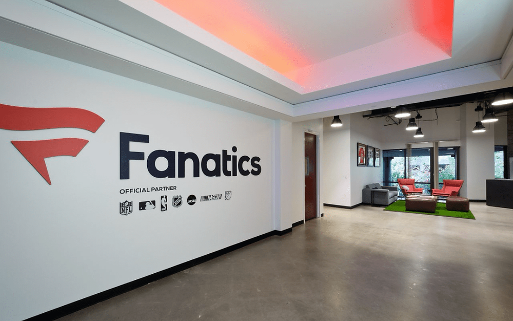 Fanatics raises US$320m and doubles its valuation to US$12.8bn