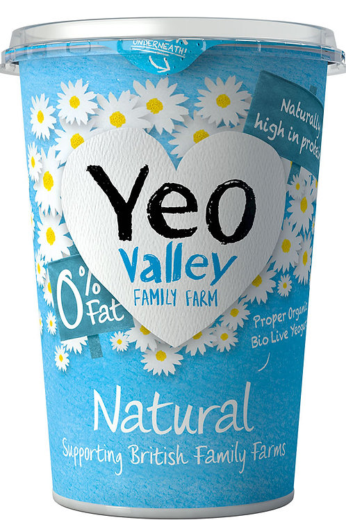 Yeo Valley Natural 0% Fat Yoghurt 500g