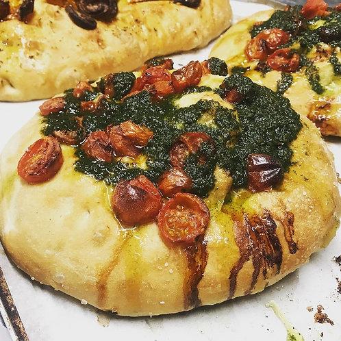 Focaccia - Tomato and pesto 500g
