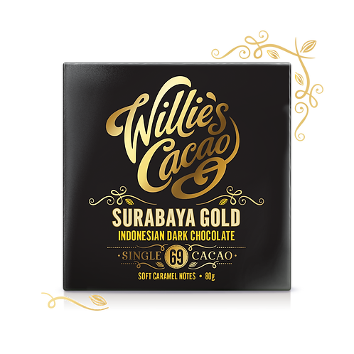 Willie's Cacao - Surbaya Gold 69 Indonesian Dark Chocolate - 50g