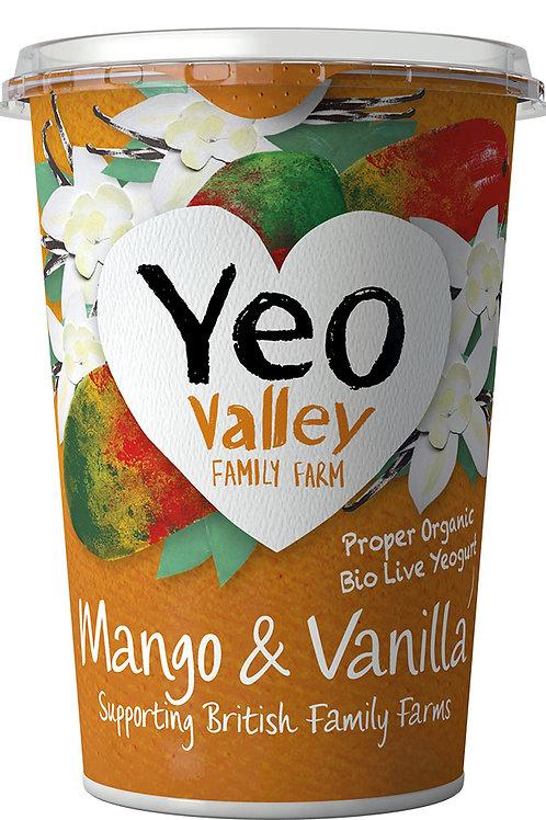 Yeo Valley Mango & Vanilla Yoghurt 450g