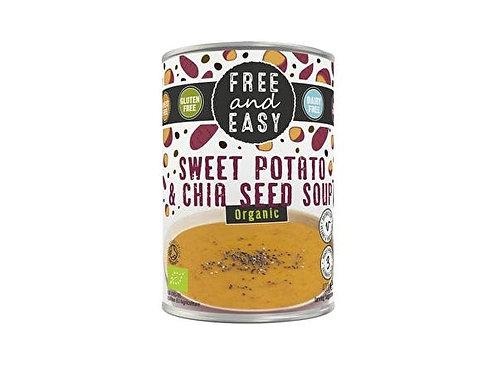 Free & Easy Sweet Potato & Chia Soup