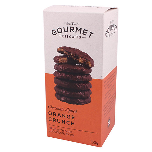 Bon Bon's Gourmet Chocolate Dipped Orange Crunch Biscuits
