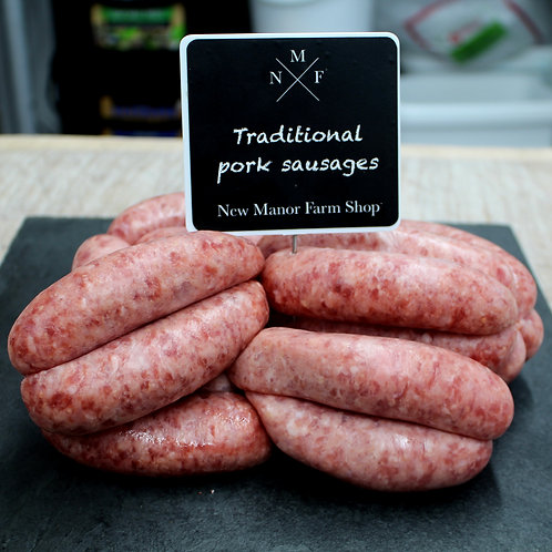 Traditional Pork Sausages - Pack of 6