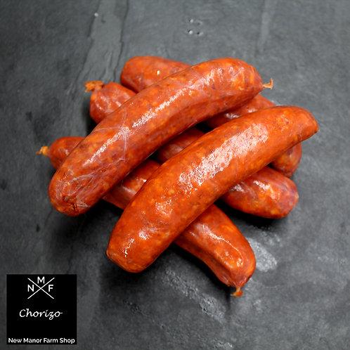 Chorizo Style Pork Sausages - Pack of 6