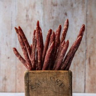 Red wine and Draycott Blue salami pokers (pack of 4)