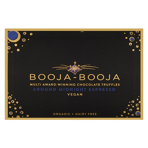 Around Midnight Espresso Truffles, Organic, Booja Booja (92g, pack of 8)