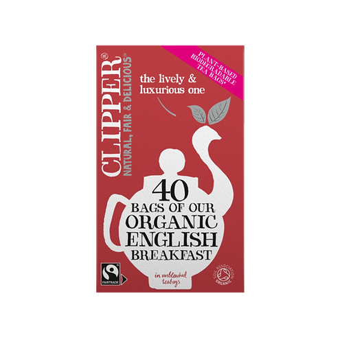 Clipper - Fairtrade Organic English Breakfast Teabags x 40