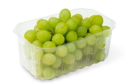 Punnet of green grapes