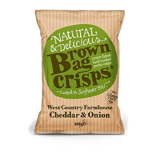 Brown Bag Crisps West Country Cheddar & Onion 150g