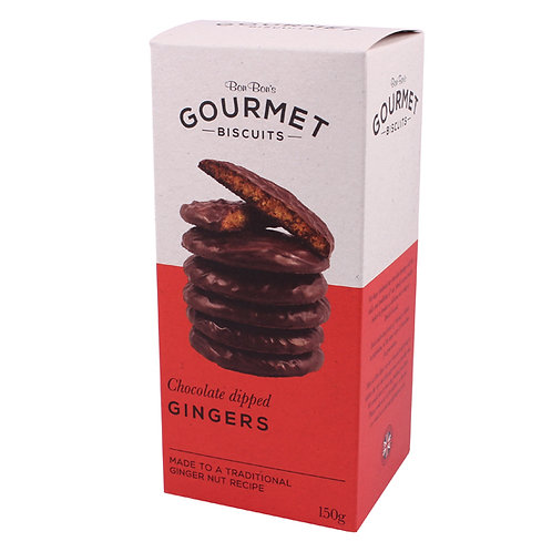 Bon Bon's Gourmet Chocolate dipped Ginger Biscuits 150g