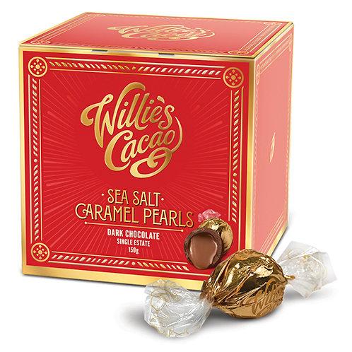 Willie's Cacao Sea Salt Caramel Black Pearls150g