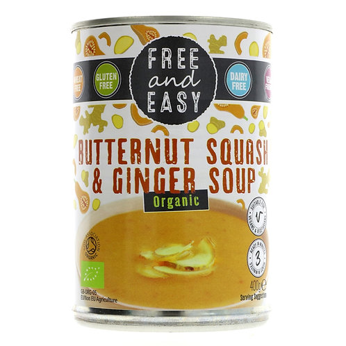 Free and Easy Butternut Squash & Ginger Soup