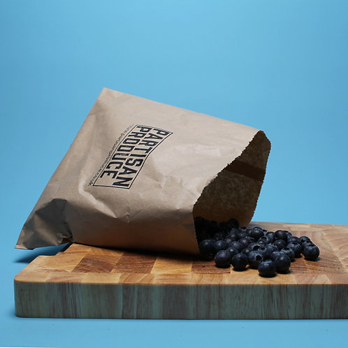 Punnet of blueberries