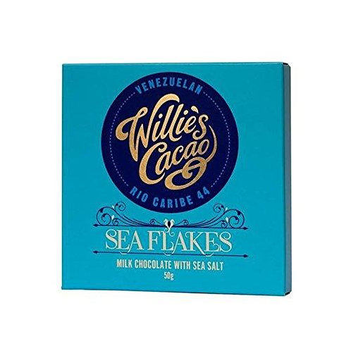 Willie's Cacao - Sea Flakes Rio Caribe 44 Milk Chocolate with Sea Salt 50g