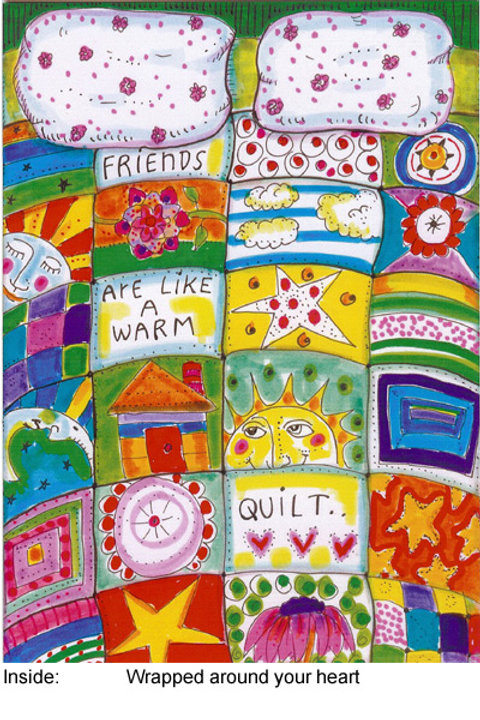Friends are like a warm quilt - #nd-174
