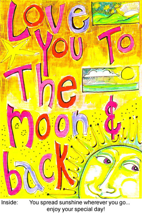 Love you to the moon and back - #nd-208