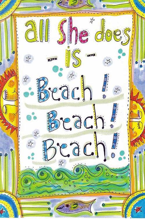 All she does is beach beach beach - #nd-293