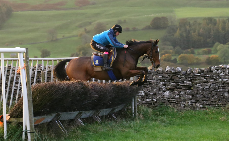 Jumping a chase fence
