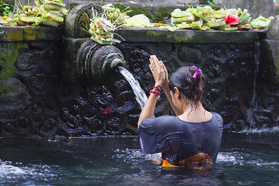 Holy Spring Water Tirta Empul Hindu Temp