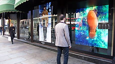Fourth Reality Harrods Experiential Interactive Zegna Window Display