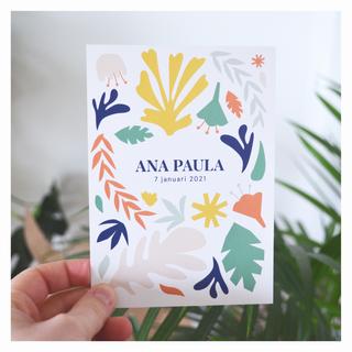 Ana Paula geboortedrukwerk