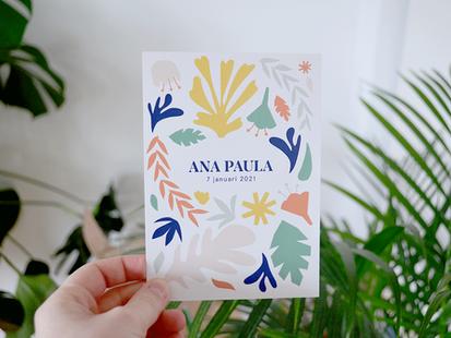 geboortekaartje Ana Paula