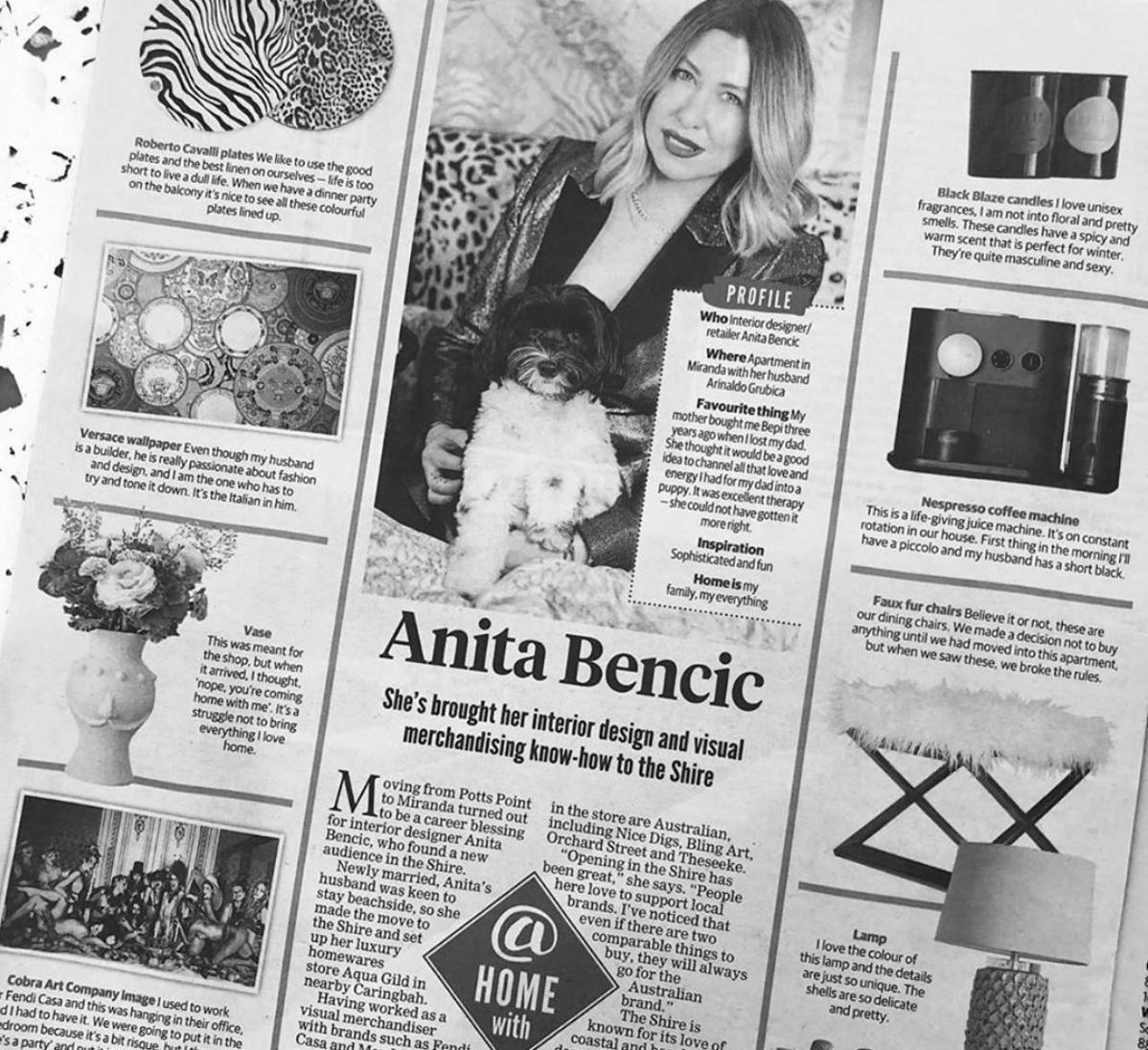 Daily Telegraph - Home Mag x Aqua Gild