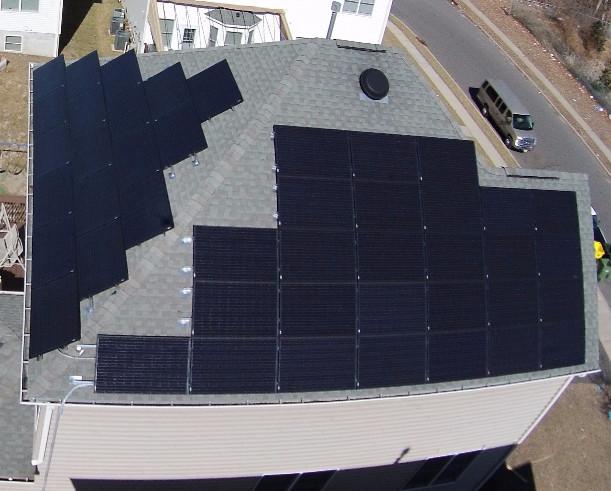 Solar on Home Black PV Panels