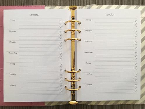 Wöchentlicher Lernplan A5