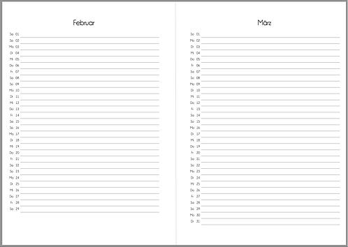 Datei: Monat auf 1 Seite vertikal A5 2021