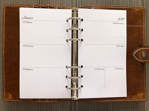 Woche auf 2 Seiten ohne Notizen - AB Personal