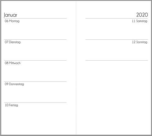 Datei: Woche auf 2 Seiten mit mehr Notizen Personal 2021 / 2022