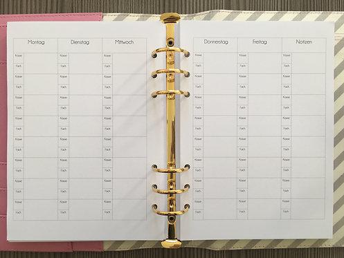 Lehrer - Wochenplan A5