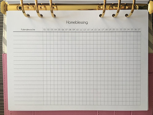 Homeblessing Tracker A5