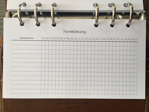 Homeblessing Tracker Personal