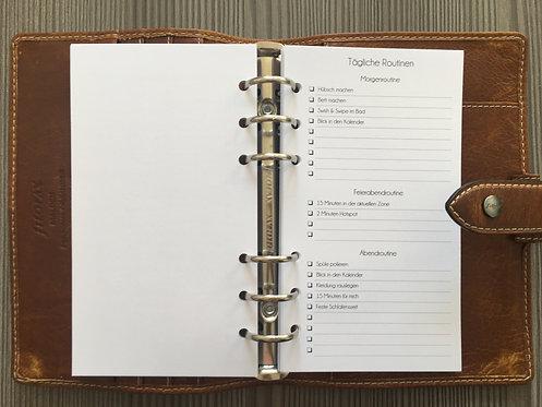 Tägliche Routinen Checkliste Personal