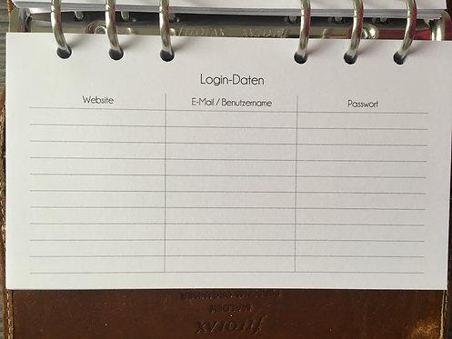 Login Daten Personal