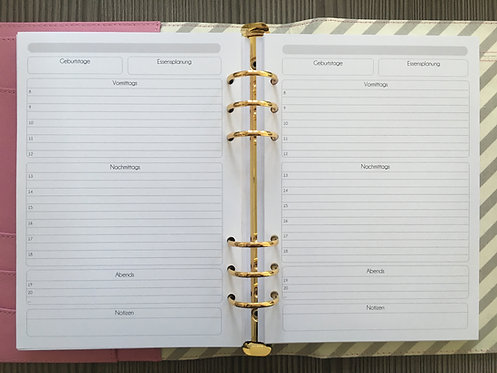 Tagesplan Kästchen A5