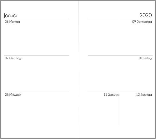 Datei: Woche auf 2 Seiten ohne Notizen Personal 2021 / 2022